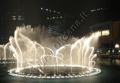 Tvenkinys su dinaminiu fontanu